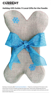 Current GiftGuide PAWsitively Sweet Bakery dog stocking