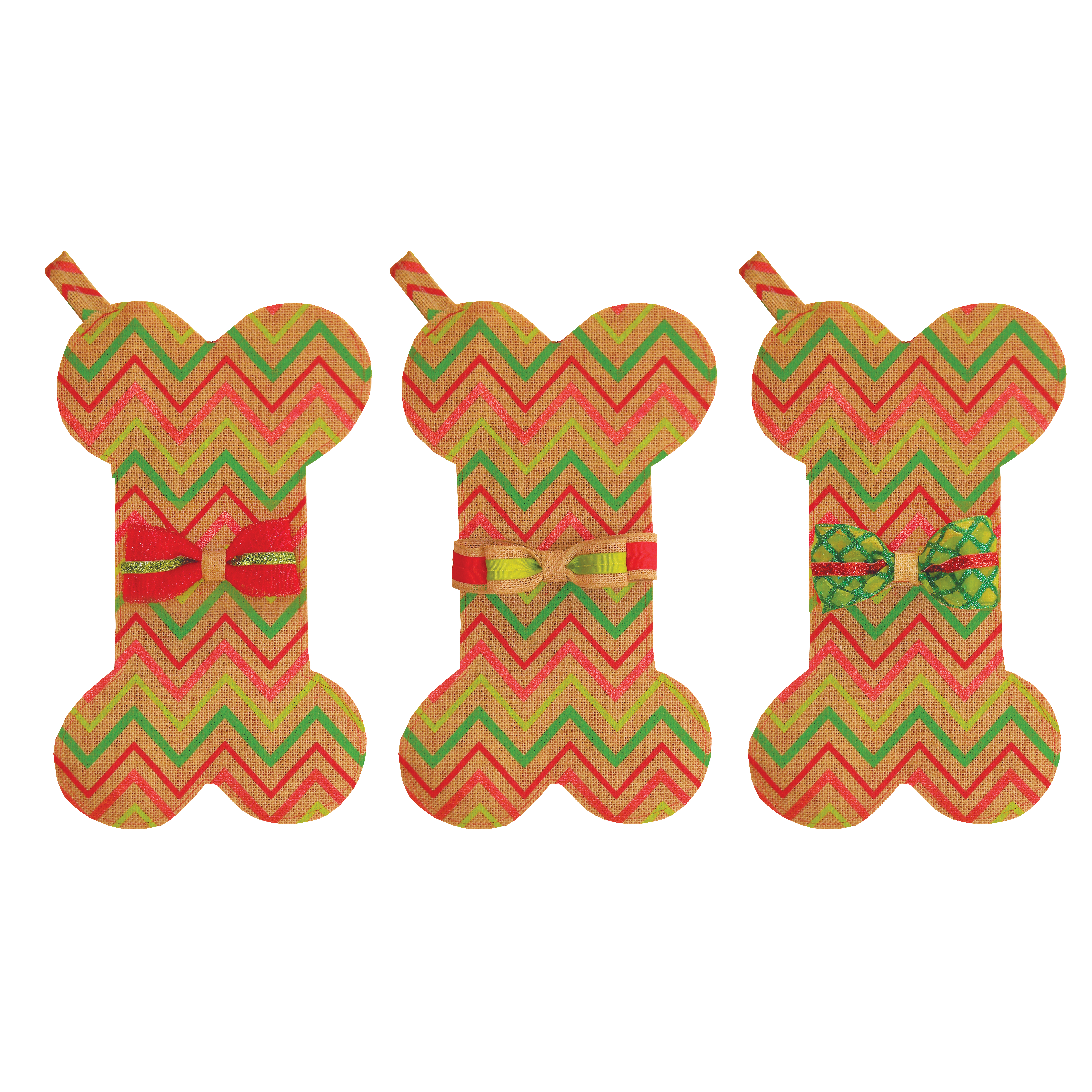 Holiday Stocking with Treats - Striped
