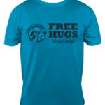 PAWsitively Sweet Bakery FREE HUGS tshirt