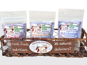 PAWsitively Sweet Bakery treats at Pet Supplies Plus