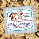 Pawsitively Sweet Bakery PB&J Sandwich dog treats