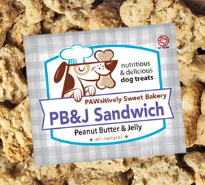 Pawsitively Sweet Bakery PB&J Sandwich dog treats