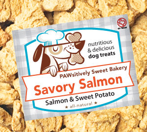 Pawsitively Sweet Bakery Savory Salmon dog treats