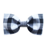 Black/White Plaid Bow Tie PAWsitively Sweet Bakery