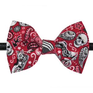 pawsitively sweet bakery motorcycle skulls bowtie