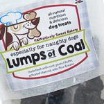 pawsitively sweet bakery lumps of coal dog treats