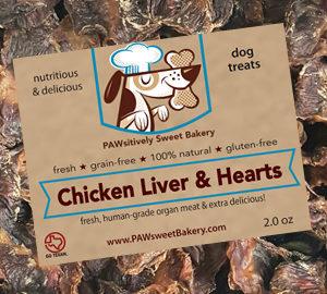 chicken liver hearts dog treats