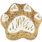 paw print dog birthday cake