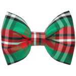 Red & Green Silk Dog Bow Tie