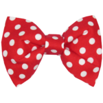 Red Polkadot Dog Collar Accessory
