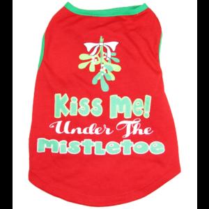 Kiss Me Under the Mistletoe Dog Shirt