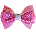 VDay Pink Sparkle Bow